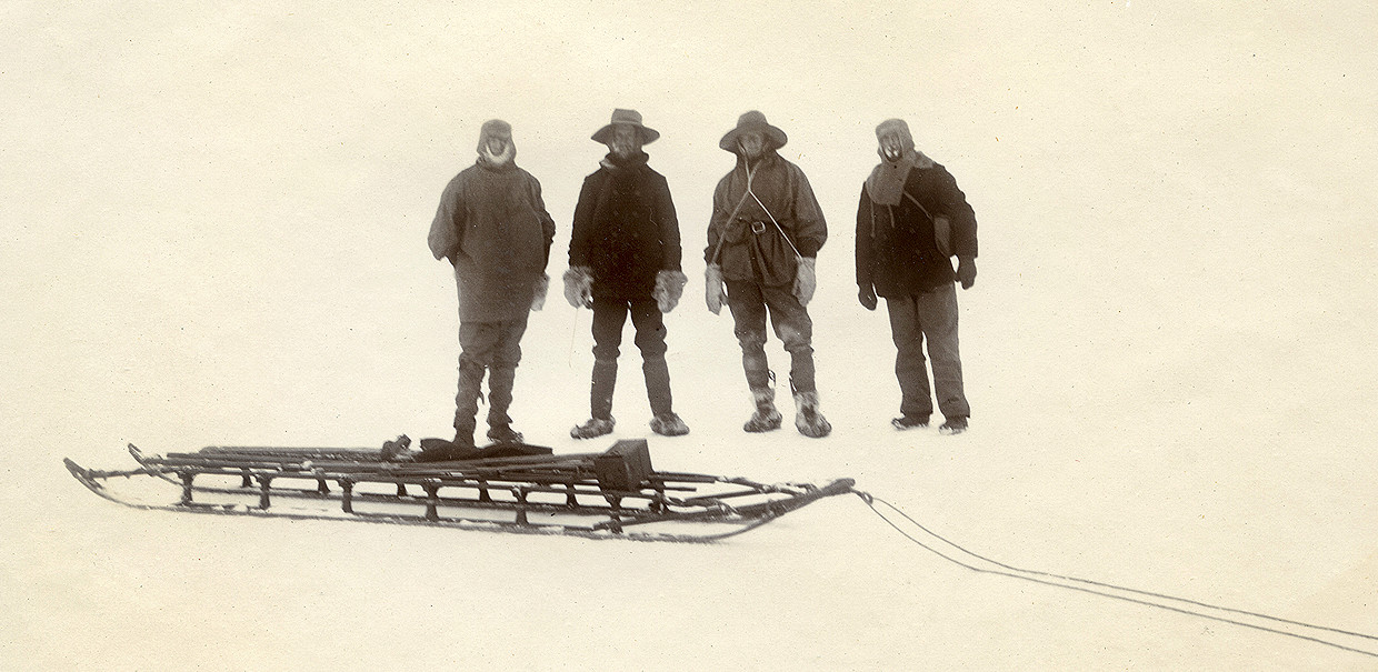 Group in search of Penguins 1903. © Royal Geographical Society, Michael Barnes