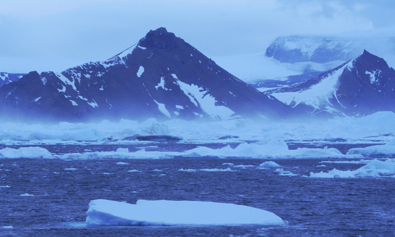 Strong winds in Antarctica