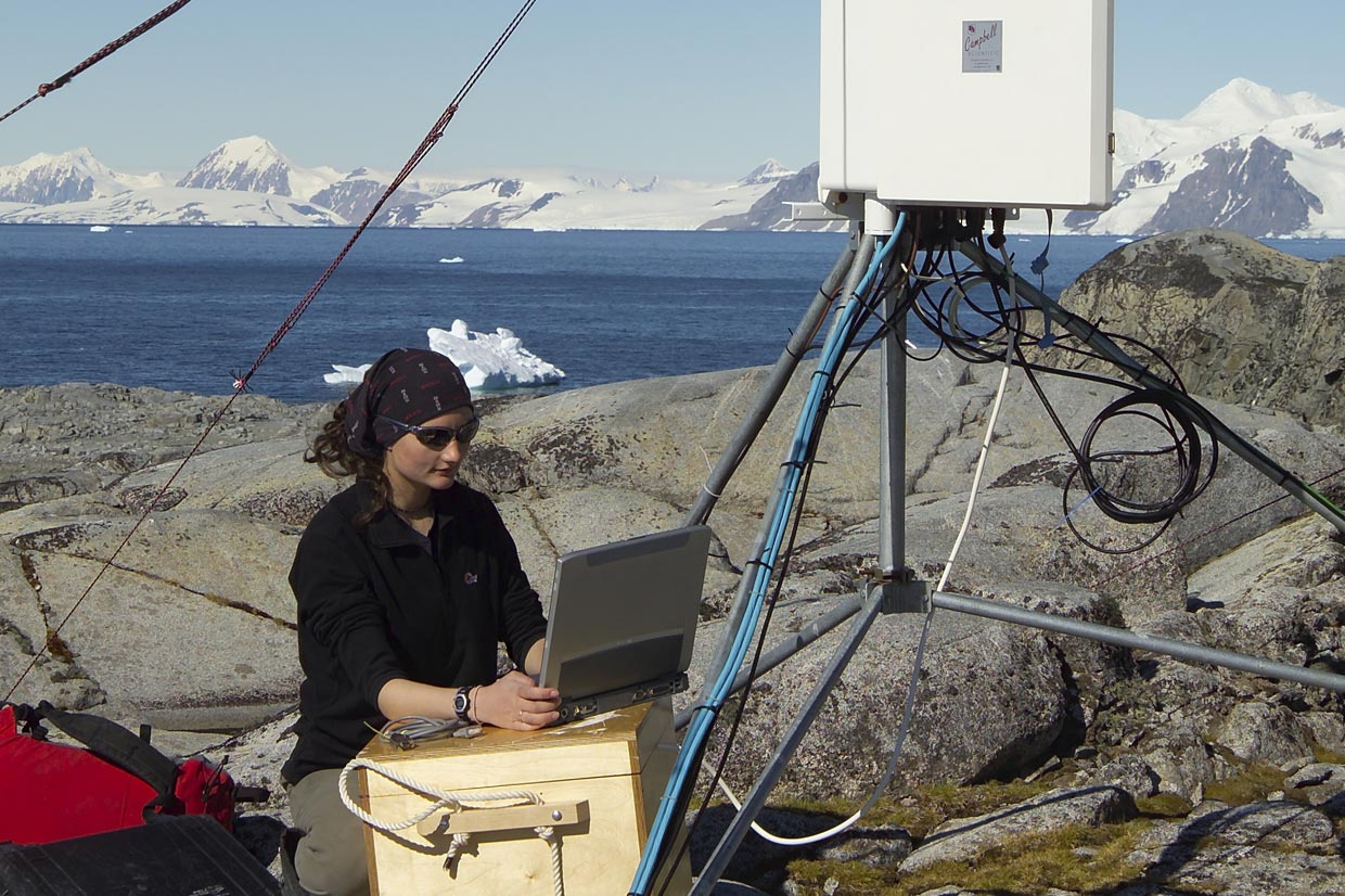 Meteorological station at Anchorage Island, near Rothera Research Station
