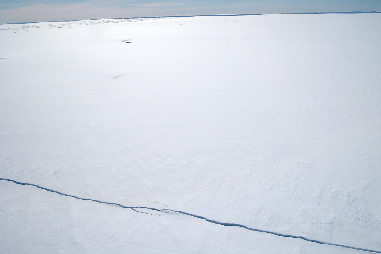 A crack in the Pine Island ice shelf