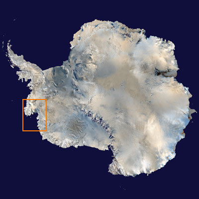 Pine Island Glacier satellite view