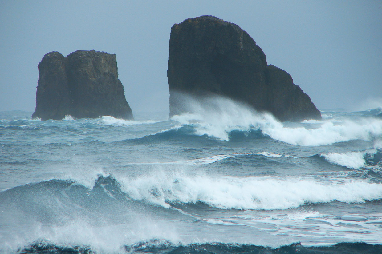 Sea-stacks off Fildes Peninsula