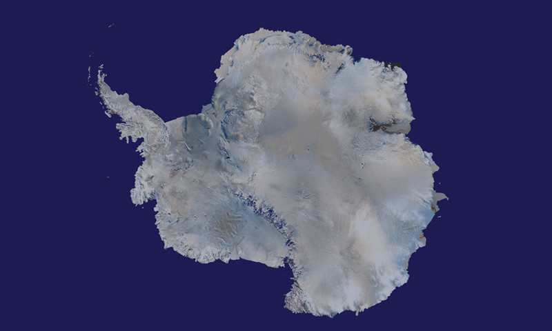 Satellite map of Antartica