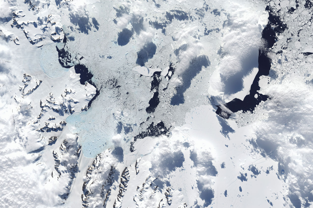 Antarctic Peninsula satellite image