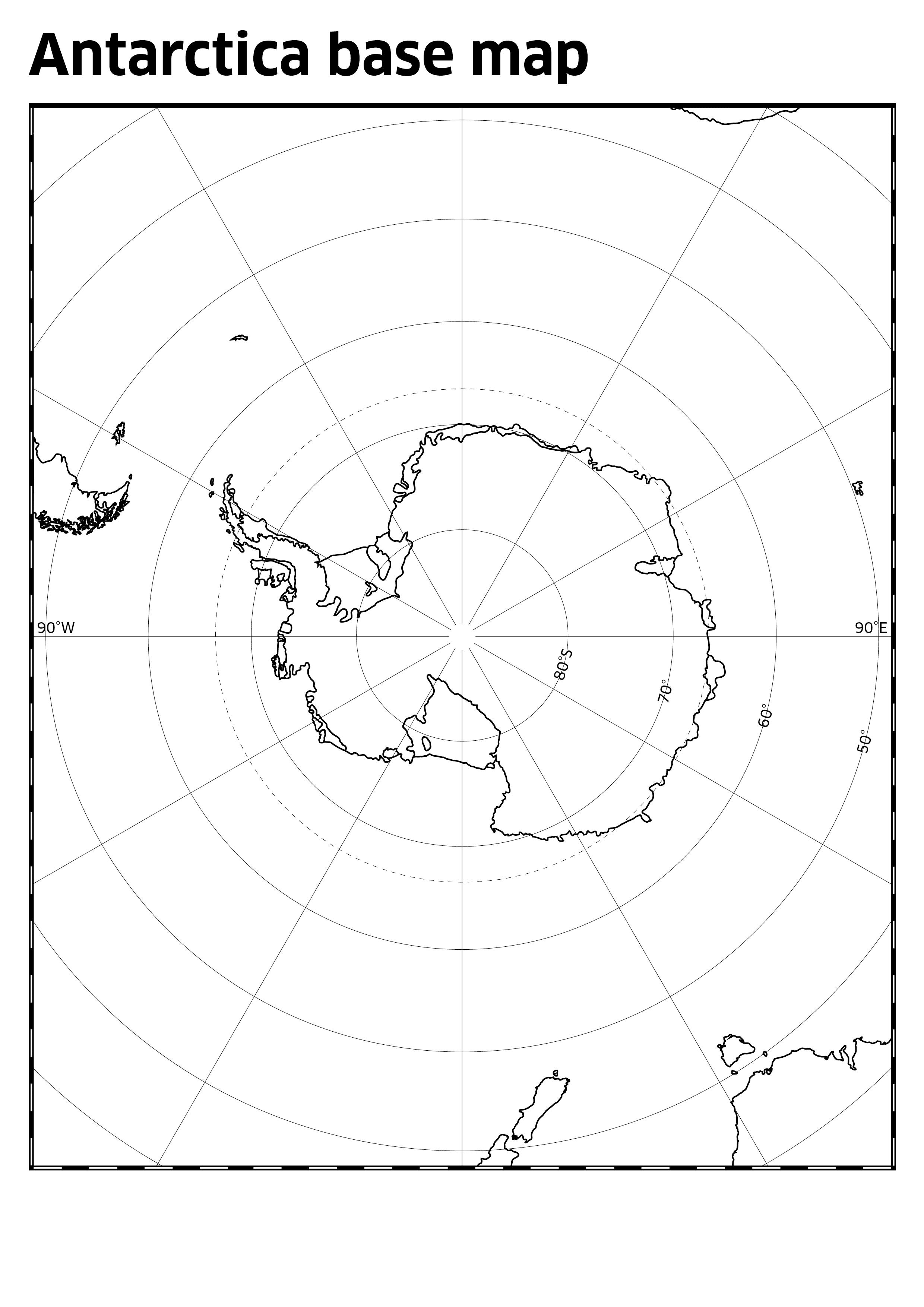 antarctica base map discovering antarctica