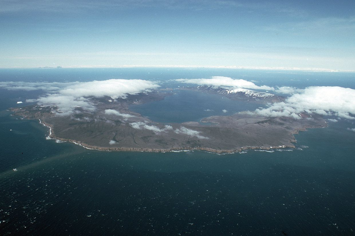Arial iew of Deception Island