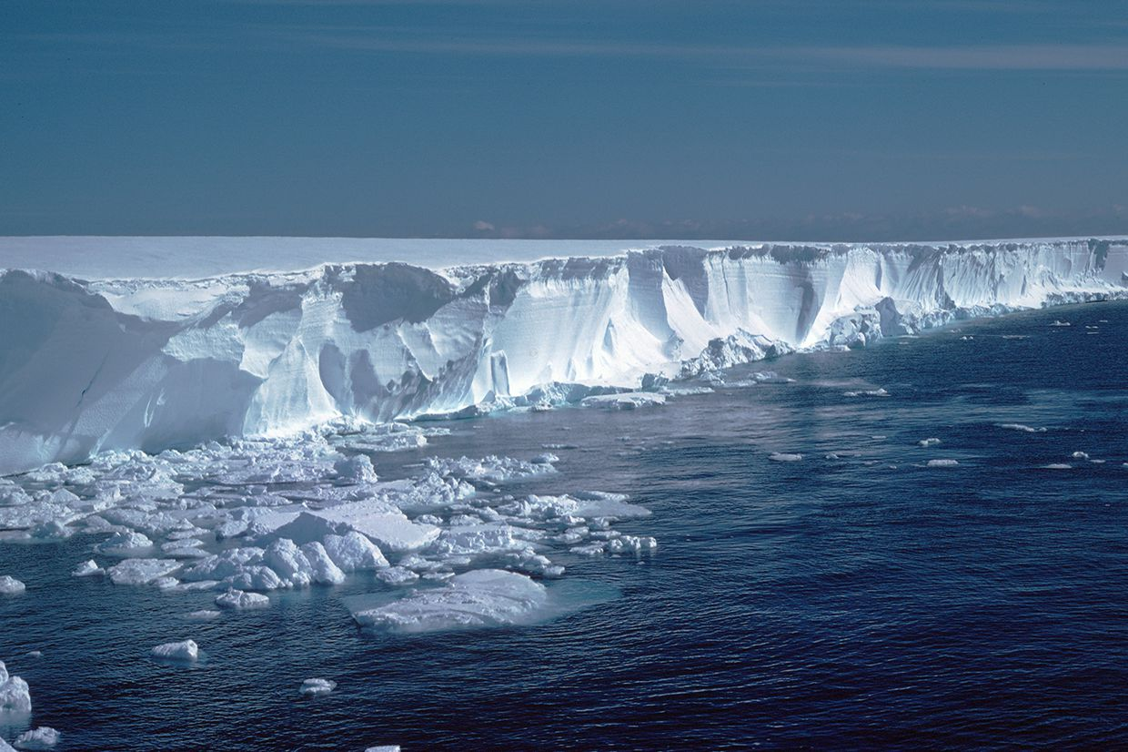 Brunt Ice Shelf, Coats Land, Antarctica