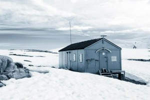 A well preserved hut in Antarctica