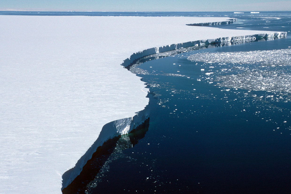 Ice edge of the Brunt Ice Shelf near Halley Research Station