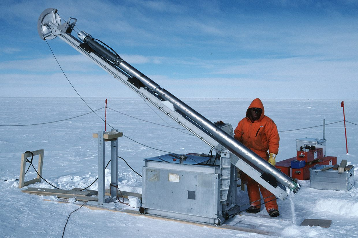 Shallow ice core drilling at Dome C