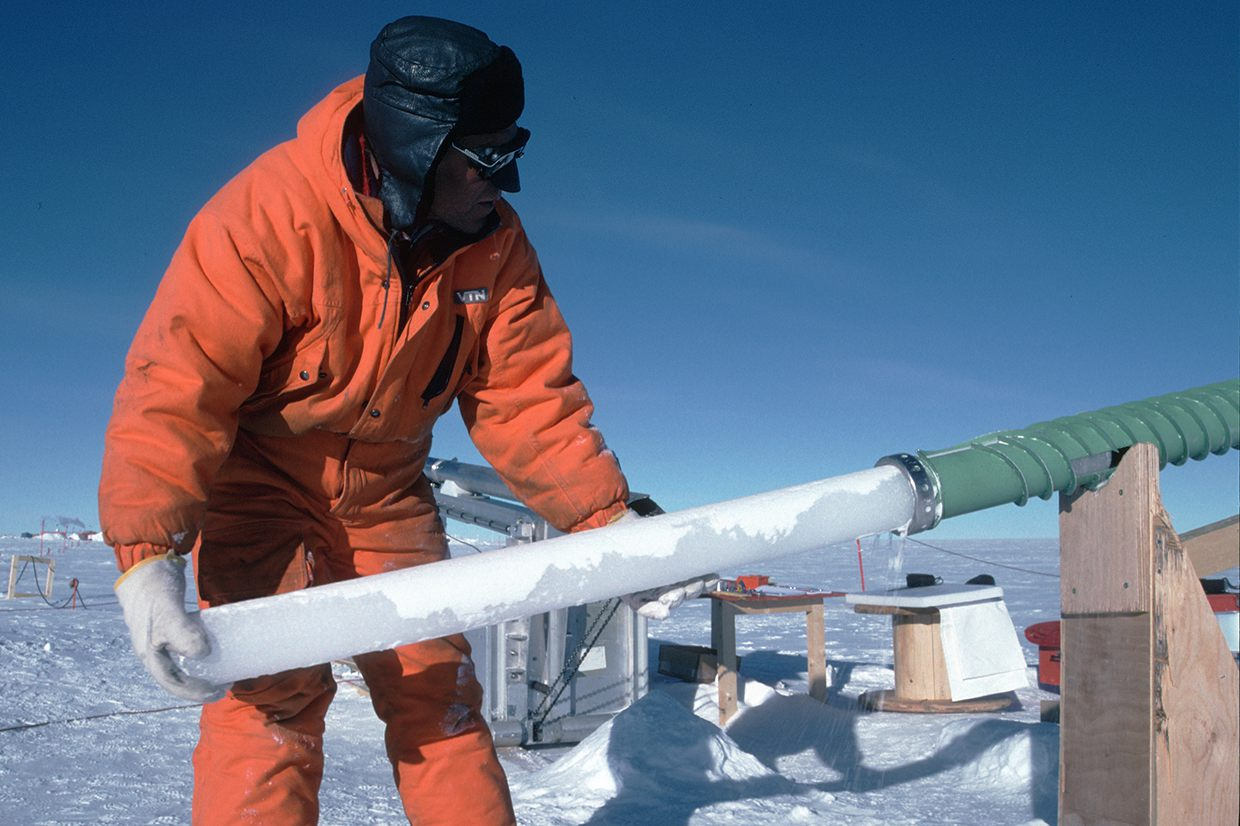 ice core extraction