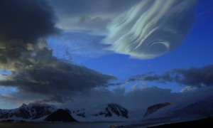 Cloud formation as seen from Rothera Research Station
