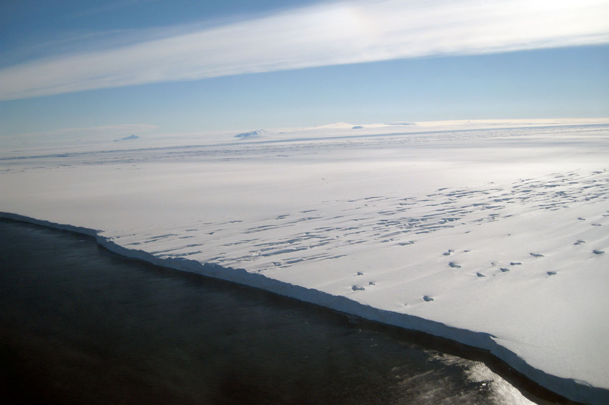 The edge of the Pine Island ice shelf