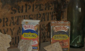 Biscuits and baking powder preserved in Discovery Hut