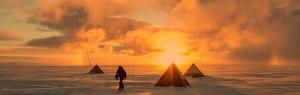 low sun, tents, scientist. pyramid