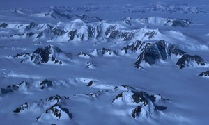 Mountain ranges within a glacier