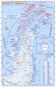 Antarctic Peninsula map